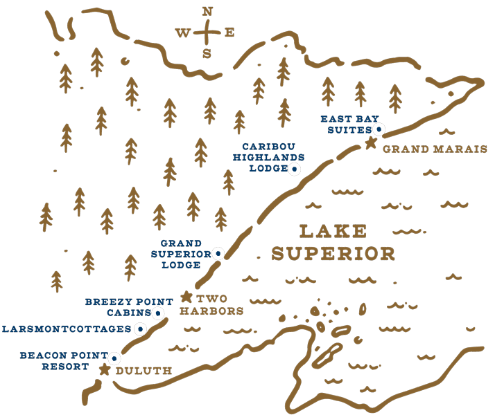 Map of the North Shore