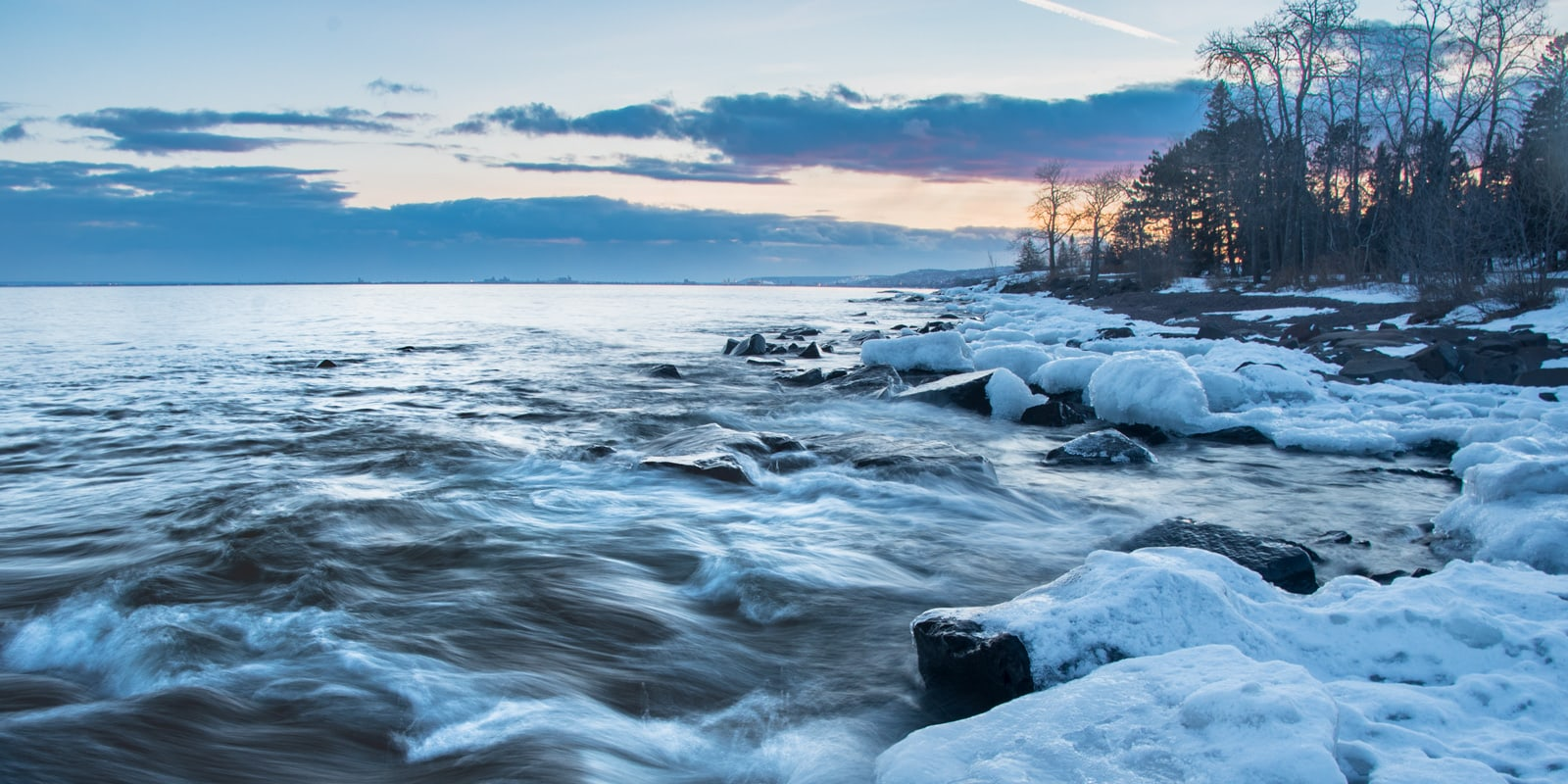 Brighton Beach at Sunrise - Duluth