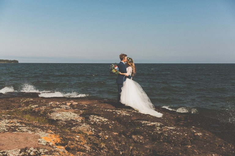 Newlyweds on Lake Superior