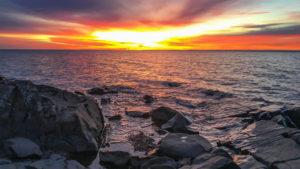 Sunrise at Brighton Beach