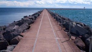 Breakwall at Two Harbors Lighthouse