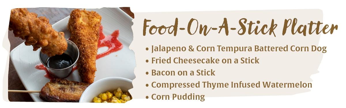 Food on a Stick Platter