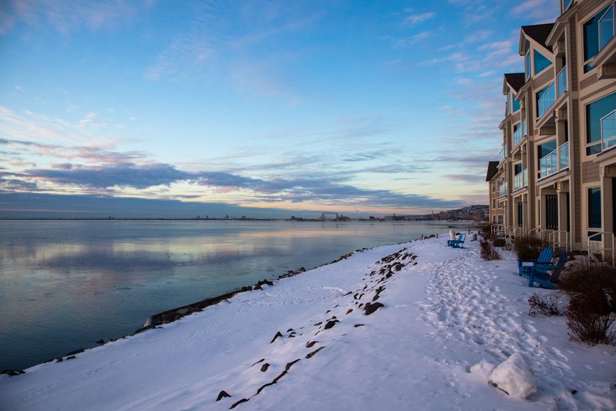 Beacon Pointe in winter