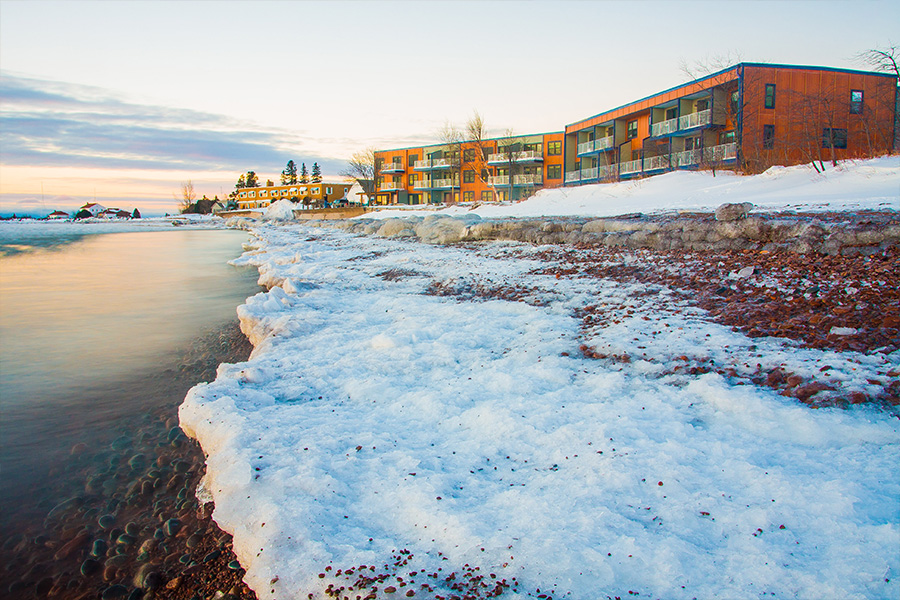 East Bay Suites on Lake Superior's shore