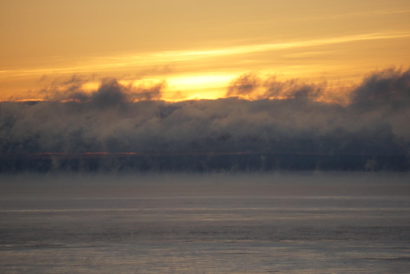 Sea Smoke over Lake Superior